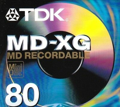 Tdk Md-Xg 80 Md Recordable Blank Minidisc - Sealed