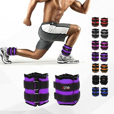 XN8 Ankle Weights Straps Leg Wrist Running Boxing Bracelet Gym Yoga Workout 2X