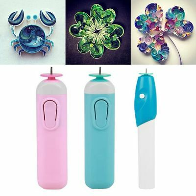 Pro Electric Slotted Paper Crafts Quilling Tool Metal Origami Winder Curling Pen