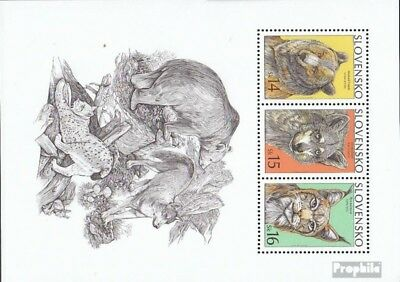 Slovakia block16 mint never hinged mnh 2001 Conservation - Predators