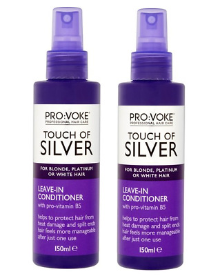 2x PROVOKE Touch ofSilver Leave-In Conditioner 150ml with pro-vit.B5 blonde hair