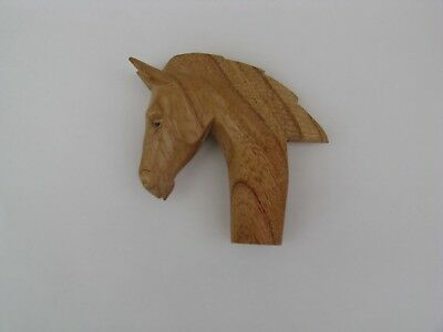 ONE  WOODEN CARVED HORSE HEAD  STICK Handle  for Walking stickmaking