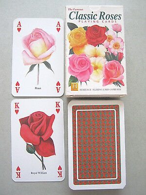 Classic Roses Illustrated Non Standard Playing Cards