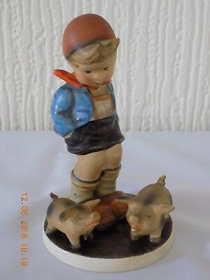 "HUMMEL GOEBEL ""FARM BOY WITH PIGS"" TMK2 c1950-55"