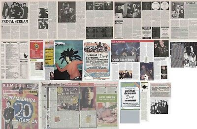 PRIMAL SCREAM : CUTTINGS COLLECTION -interviews adverts-