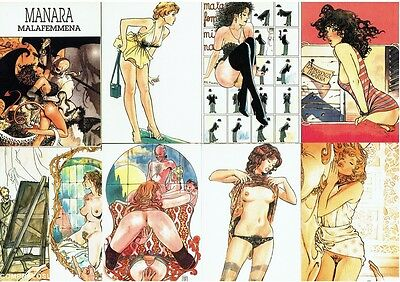 MANARA MALAFEMMENA Ensemble de 12 cartes postales de collection