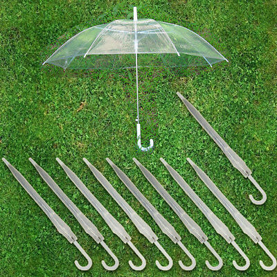 Lot 10 Transparent Clear Automatic Umbrella Parasol for Wedding Party Favor USA