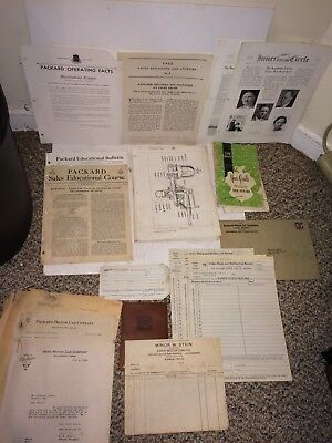 Vintage 30's 1931 Packard Service Parts List,Inner Circle,Operating Facts,Paper