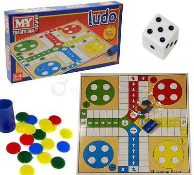 LUDO Traditional Children's and Family Board Game Kids & Adults Toy NEW