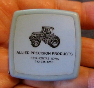 Vintage ALLIED PRECISION TRACTOR PARTS Dealer TAPE MEASURE..TRACTOR ON IT!