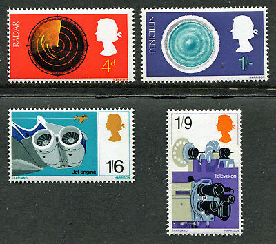 Gb 1967 Mnh Sg 752-755 British Discovery Commemorative Stamp Set