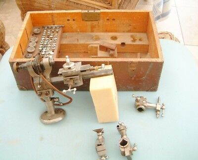 Watchmakers Lathe Boley watch lathe with cross slide and 40 plus collets & bits
