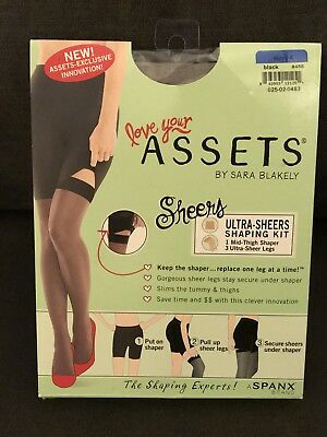 b9f5dae09a4 Spanx Assets by Sara Blakely Ultra Sheers Shaping Kit 845B - Black Size 4