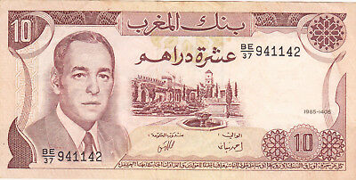 10 Dirhams Vf Banknote From  Morocco 1970!pick-57