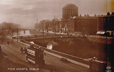 Dublin - Four Courts And Trams - Real Photo By Schwerdtfeger 1912