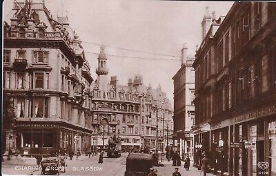 Glasgow - Charing Cross Shops, & Tram - Real Photo By Schwerdtfeger