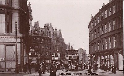 Glasgow - Charing Cross With Trams - Lovely Real Photo - Caledonia Series