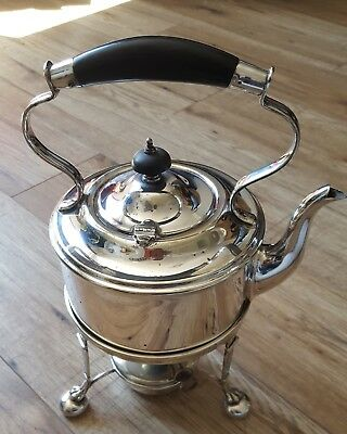 Antique Silver plate spirit kettle USED