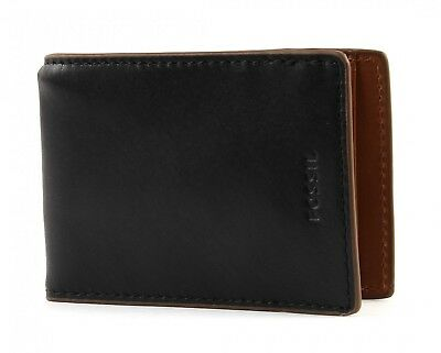 Fossil Tate Money Clip Bifold Black 35 56 Picclick Uk