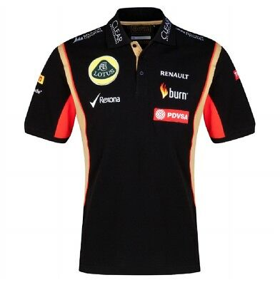POLO SHIRT Ladies 3 Button Formula One 1 Lotus F1 Team Sponsor 2014/5 NEW!