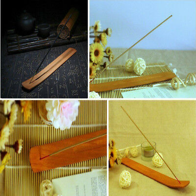 Natural Plain Wood Wooden Incense Burner Stick Ash Catcher Holder 1Pc/2Pcs