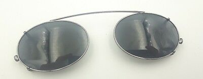 eea4ffd1c451 Vintage Brooks Brothers 191 1081 silver Metal Oval Clips Clip on Sunglasses