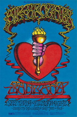 Big Brother & The Holding Company POSTER Santana Fillmore Rick Griffin BG136-3