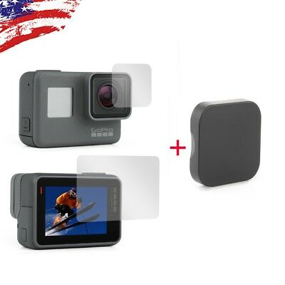2X Lens & LCD Screen Protector Film + 1X Lens Cap Cover for GoPro HERO6 5 2018