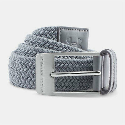 Under Armour Ua Golf Men's Braided Belt Size: W36 Steel Gray Stretch Woven 18988