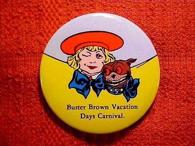 BUSTER BROWN & TIGE nice collectible Children's Shoes POCKET MIRROR edge 1946