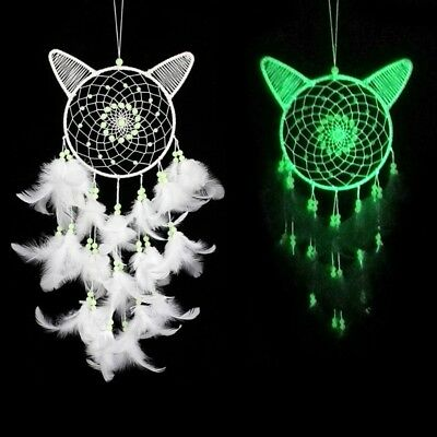 Luminous Dream Catcher WIth Feather Bead Car Hanging Ornament Home Decor