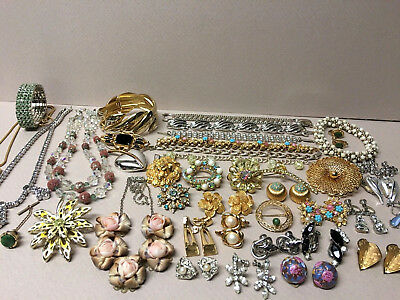 Very Nice Lot Of Vintage/Antique COSTUME JEWELRY Good Usable, Many Signed!