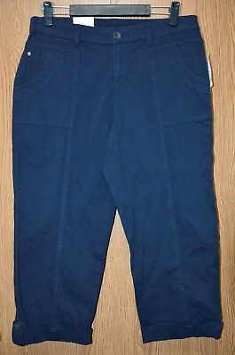 Womens Navy Blue Style&co Mid Rise Capri Pants Size 10 NWT NEW