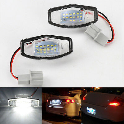 2x 18 LED License Plate Light Direct Fit for Acura TSX TL MDX Honda Civic Accord