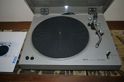 Vintage AKAI Turntable model AP 001C made in Japan inc. instruction manual