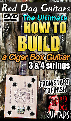 Build Cigar Box Guitar DVD add your own parts kit or amp vintage 3 & 4 string