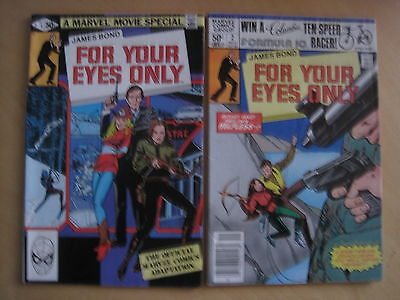 """James Bond : """"for Your Eyes Only"""", Complete 2 Issue Series. Marvel. 1981"""
