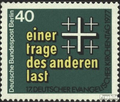 Berlin (West) 548 (kompl.Ausg.) FDC 1977 Kirchentag