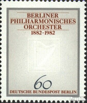 Berlin (West) 666 (kompl.Ausg.) FDC 1982 Philharmonie