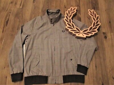 Fred Perry Mens Prince Of Wales Check Jacket Scooter Mod Skin Ska Xl Harrington