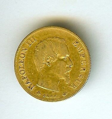 France 1859-Bb Gold 10 Francs  Choice Extremely Fine