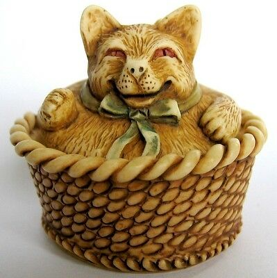 MPS Harmony Kingdom - Gigglees - Small Rocking Cat / Kitten Figurine - Nap Time