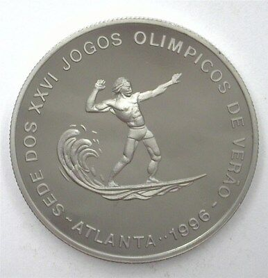 St. Thomas (1993) 1000 Dobras Olympic Surfer Km#62 Perfect Proof Dcam