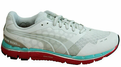 bb9f02fc3c69 Puma Faas 500 V2 Womens Trainers Lace Up Running Shoes Mesh White 186489 01  D26