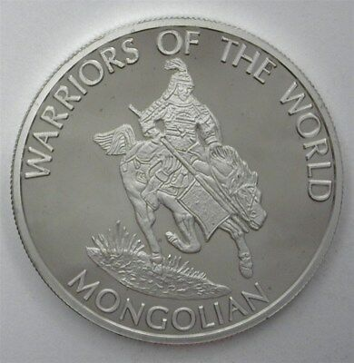 Warriors Of The World Mongolian 2010 Congo Dem. Rep 10 Francs Perfect Proof Dcam