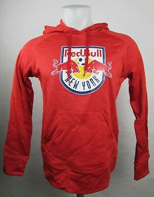 New York Red Bulls adidas Climawarm Pullover Hoodie Men's Red MLS  S M