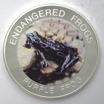 Malawi 2010 10 Kwacha Endangered Frogs Series - Purple Frog - Near Perfect Proof