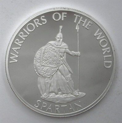 Congo Dem. Rep. 2010 10F Warriors Of The World - Spartan - Perfect Proof Dcam