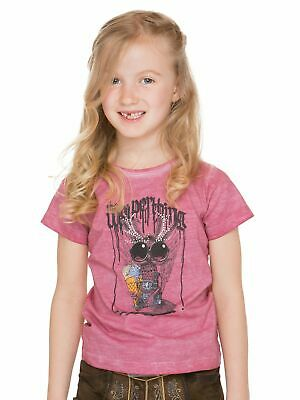 Stockerpoint Traditional Costume Kids T-Shirt Wolpi Girl Pink
