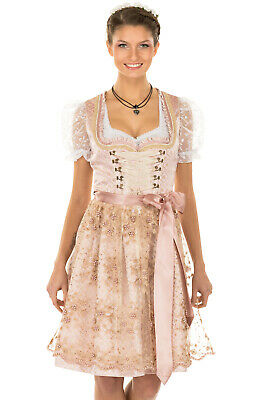Krüger Dirndl Mini Dirndl 2 Parts Rosalia Rose 60cm